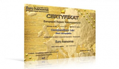 Otrzymaliśmy certyfikat Euro Renoma
